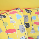 Vintage 1950s Cushions - Classic Print - Lamps Fabric - Yellow