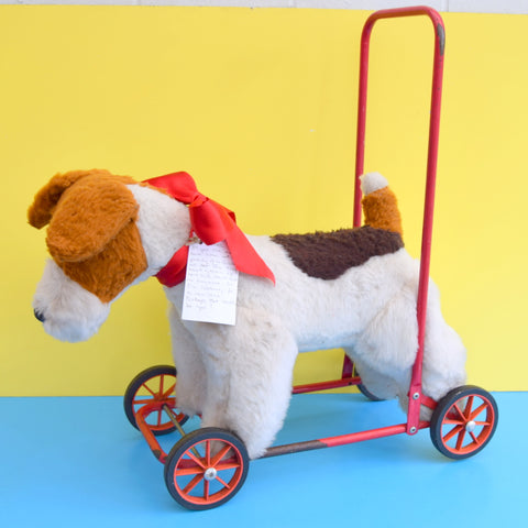 Vintage 1970s Fox Terrier Dog With Wheels - Patch