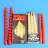 Vintage 1970s Spiral / Happy Candles - Choice Of Colours