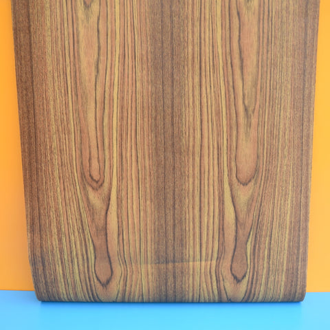 Vintage 1960s Wood Effect Wallpaper - Brown