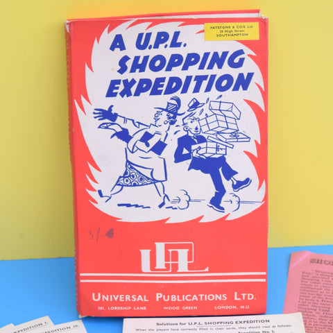 Vintage 1950s Shopping Expedition Game