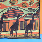 Vintage 1950s Towel / Tea Towel - South African - Giraffes