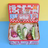 Vintage 1950s Smaller Glass Russian Christmas Baubles - Vegetables