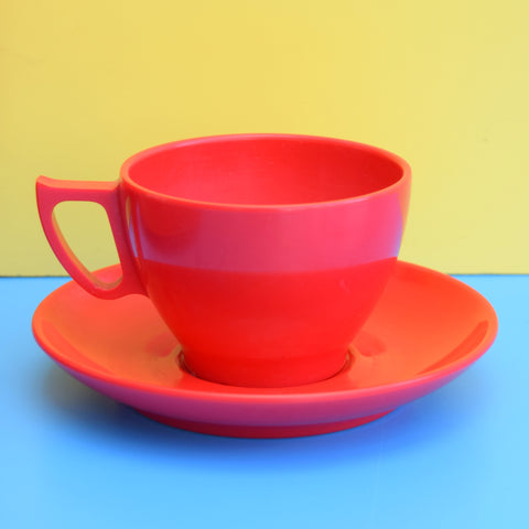 Vintage 1960s Melamine Plastic Set - Bright Red