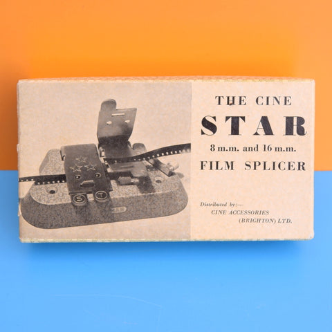 Vintage 1950s Cine Film Splicer - Star - Boxed