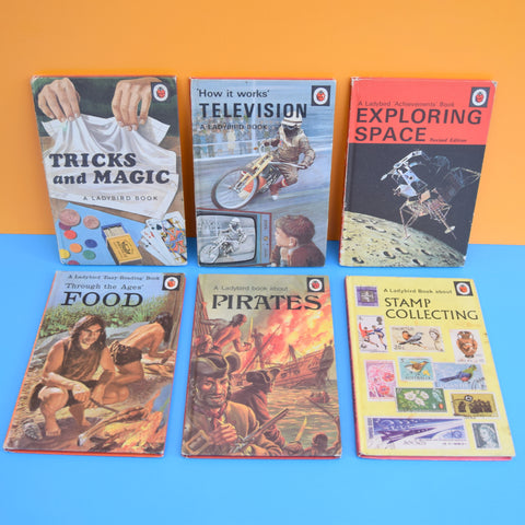 Vintage Ladybird Books - MAgic, TV, Space, Food, Pirates, Stamps
