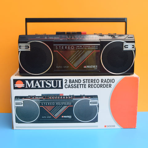 Vintage 1980s Cassette Tapes- Unused / Radio Player - Matsui - Boxed