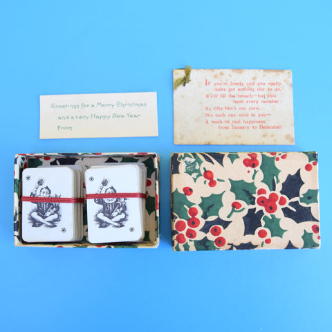Vintage 1940s Boxed Mini Playing Cards - Wartime?