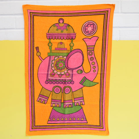 Vintage 1970s Nellie Elephant Tea Towel - Jonelle