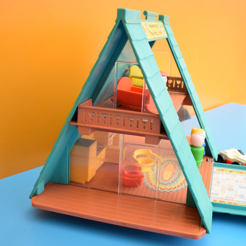 Vintage 1970s Fisher Price A Frame House - Plus Bits