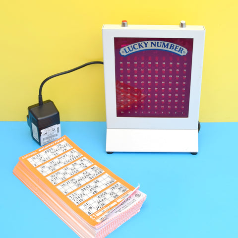 Vintage Electronic Super Bingo Machine - Lucky Number