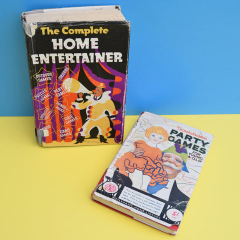 Vintage 1950s Party Games / The Complete Home Entertainer Books