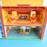 Vintage 1960s Fisher Price Tudor House - Dolls House - With Some Accessories .