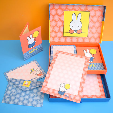 Vintage 1990s Rare Dick Bruna Miffy Writing Set - Boxed