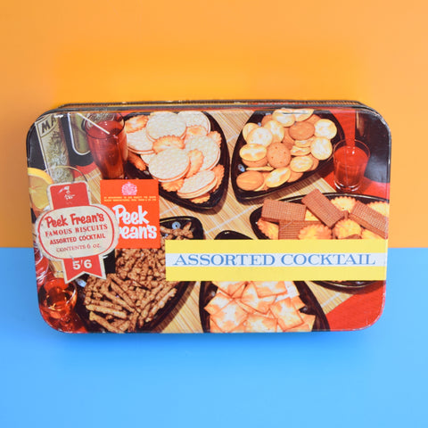 Vintage 1970s Tin - Cocktail biscuits - Peek Freans