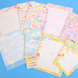 Vintage 1990s Rainbow Writing Set - Paper & Envelopes