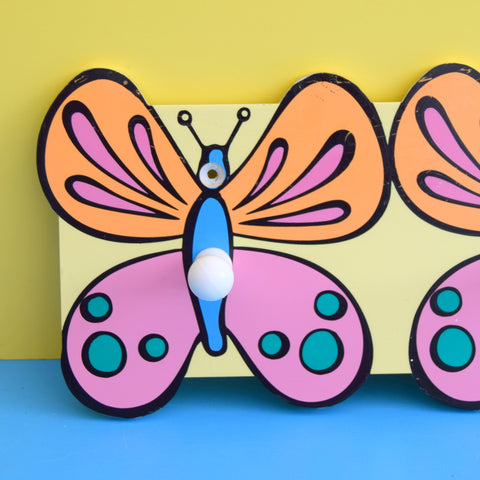 Retro Plastic Butterfly Hooks - Peter Max Style