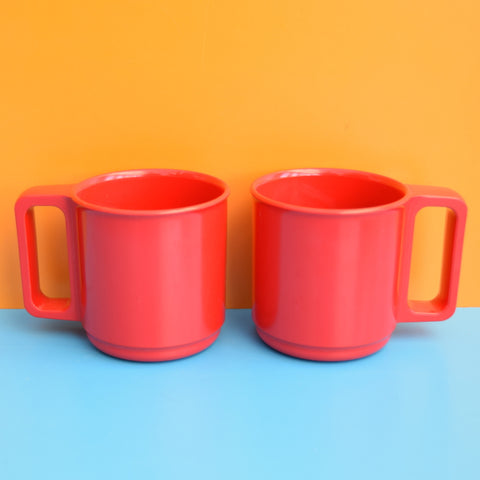 Vintage 1960s Various Mugs - Red / Orange / Yellow