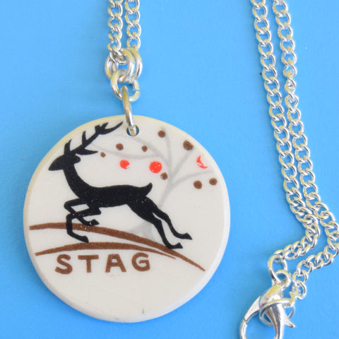 Vintage 1950s Alfred Meakin Shard Necklace / Ring - Stag