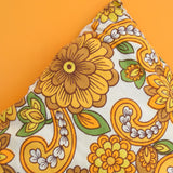 Vintage 1960s Cushions & Pads - Flower Power - Orange & Mustard