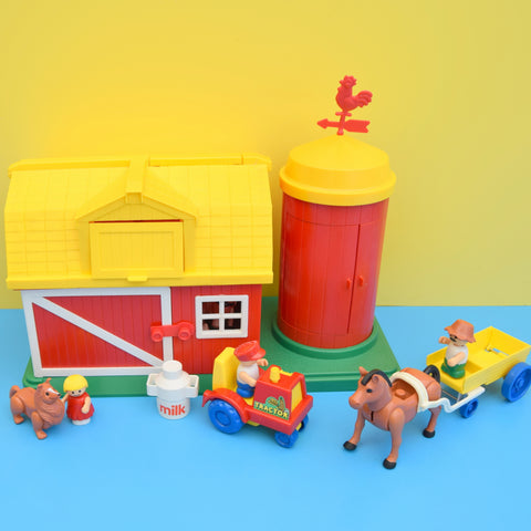 Vintage 1980s Lil Playmates Farm Playset Set - Boxed