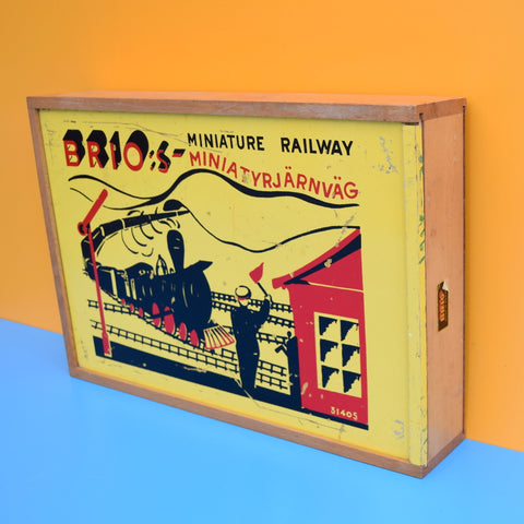Vintage 1960s Wooden Brio Train Set Box Only- Lovely Display