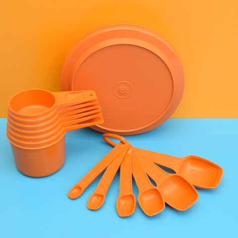Vintage 1970s Plastic Tupperware Bits  - Medium Orange