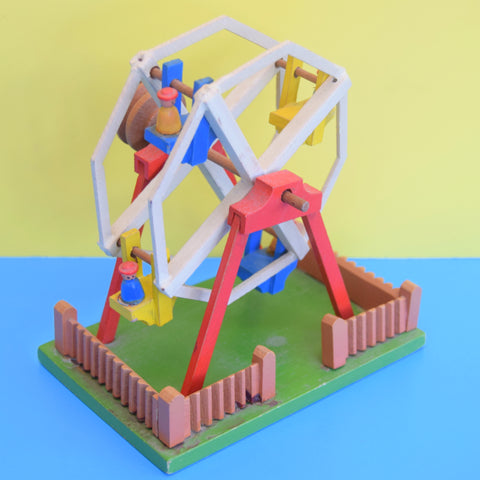 Vintage 1950s Wooden Carousel Toy - Lovely Detail