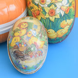 Vintage Cardboard Gift Box Egg Shaped - Fill With Chocolate Eggs ?