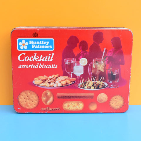 Vintage 1960s Cocktail Biscuit Tin - Huntley & Palmers