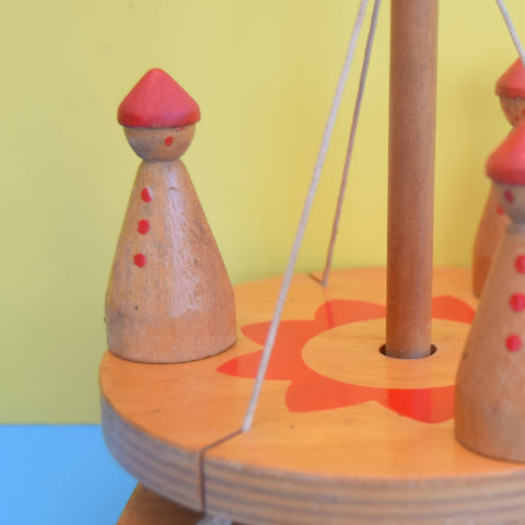 Vintage 1960s Wooden Roundabout Toy- Susan Wynter Toys