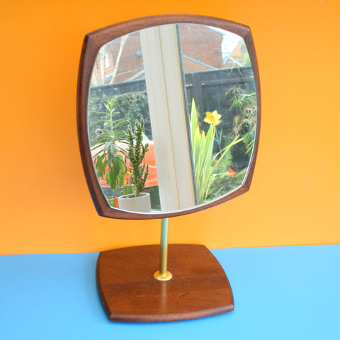 Vintage 1960s Teak Quality Dressing Table Mirror