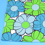 Vintage 1960s Replacement Sunlounger Cover - Blue Flower Power