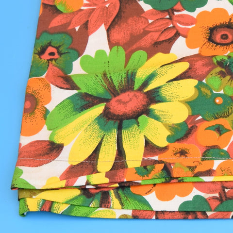 Vintage 1960s Replacement Sunlounger Cover - Orange Flower Power