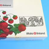 Vintage 1970s Iittala Finland - Marja - Glass Strawberry Set - Boxed