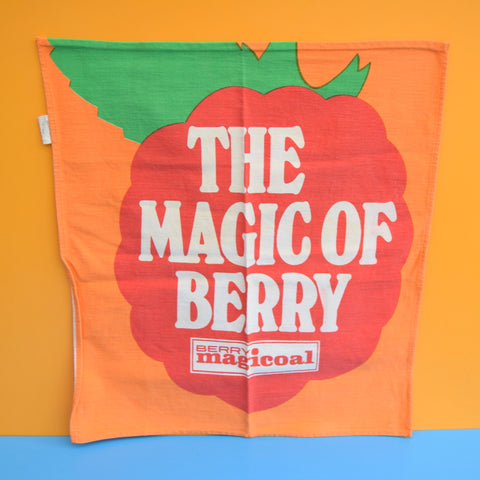 Vintage 1970s Berry Magicoal Tea Towel - Fruity