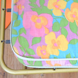 Vintage 1970s Padded Long Cushion / Mattress / Single Bed