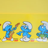Vintage 1970s Rare Meet The Smurfs Advertising Poster