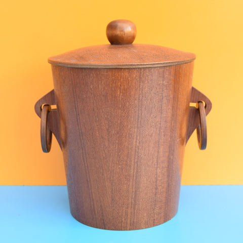 Vintage 1960s Stylish Teak Ice Bucket