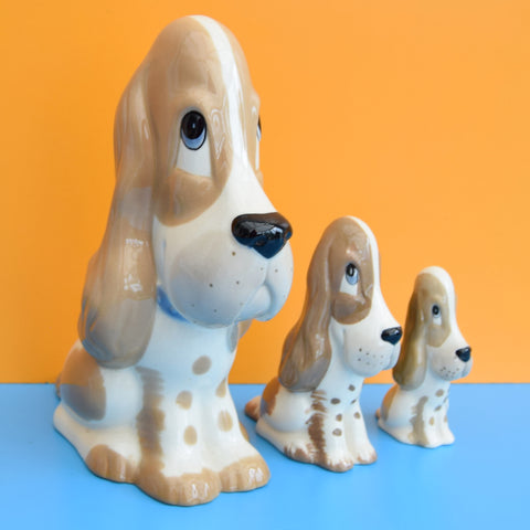 Vintage Szeiler Graduated Dog Figures - Blossoms
