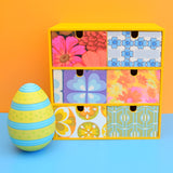 Small Wooden Drawer Unit - Vintage Wallpapers - Patchwork Flowers
