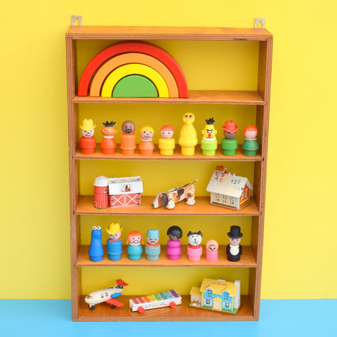 Vintage 1960s Wooden Ply Display Unit / Shelves - Miniature Collections