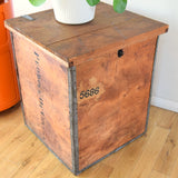 Vintage 1950s Tea Chest Side Table / Box - Ceylon Tea