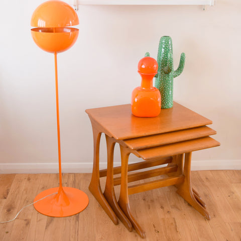 Vintage 1960s Teak Nest Of Tables - Unknown Maker