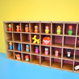 Vintage 1970s Larger Plywood Factory Storage / Display Unit - Miniature Collections