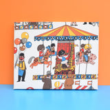 Vintage 1960s Fabric Covered Canvas - Freida Clowes Style - Fairground