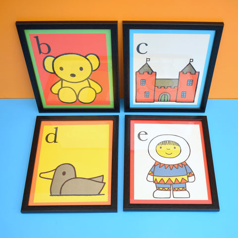 Vintage 1970s Dick Bruna Letter Pictures - Miffy & Friends
