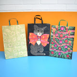 Vintage 1970s Paper / Plastic Gift Bags - Coloroll Ltd - Various