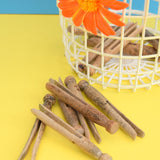 Vintage 1960s Peg Basket & Wooden Dolly Pegs / Storage - Orange flower Power