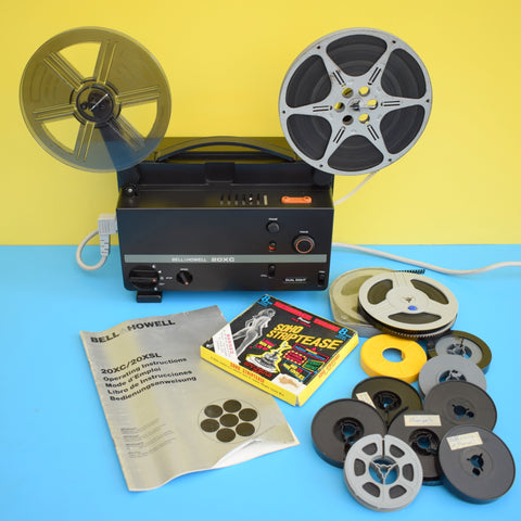 Vintage 1970s Cine Film Projector - Bell & Howell - Plus Films (Boxed)